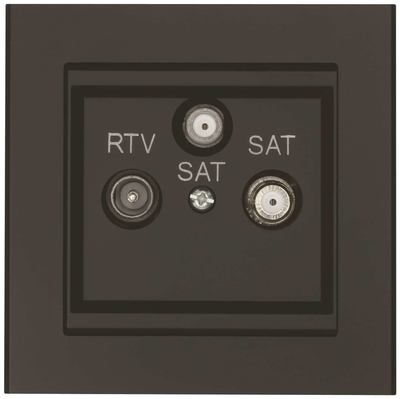 ANTENNIPISTORASIA TV RADIO JA SAT. OPTIMA 75 OHM MUSTA