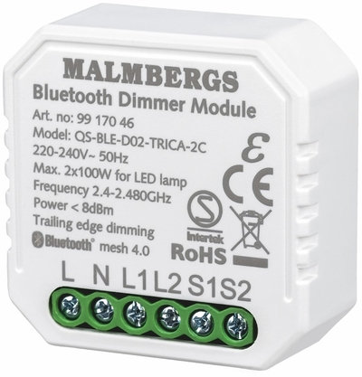 BLUETOOTH SMART RASIASÄÄDIN 2-KANAVA, 2X100W LED