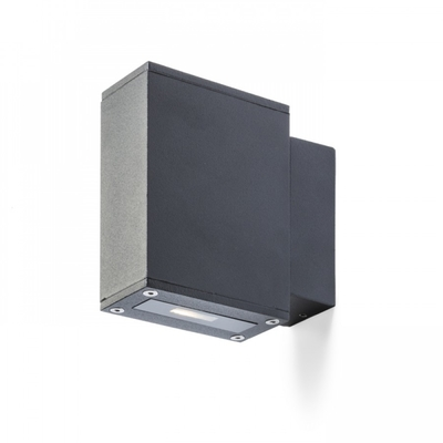 DIXIE 4X12 seinävalaisin musta LED 2x3W IP54 3000K