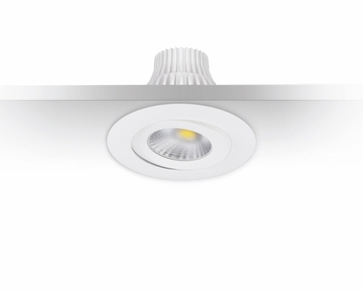 DOWNLIGHT MD-360 LED 10W IP44 230V 1900-3000K VALKOINEN