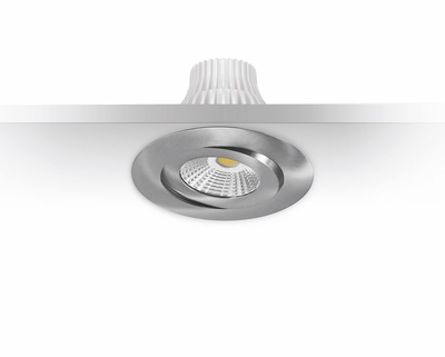 DOWNLIGHT MD-360 LED 10W IP44 230V 2700K SATIINI