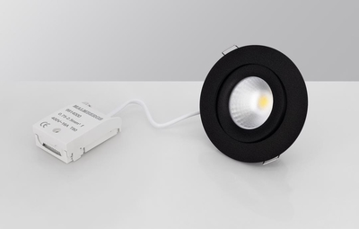 DOWNLIGHT MD-360 LED 6W MUSTA AC-CHIP IP44 1900-3000K