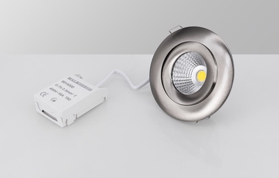DOWNLIGHT MD-360 LED 6W SATIINI AC-CHIP IP44 1900-3000K