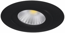 DOWNLIGHT MD-360 LED 10W IP44 230V 1900-3000K MUSTA